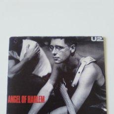 Discos de vinilo: U2 ANGEL OF HARLEM / A ROOM AT THE HEARTBREAK HOTEL ( 1988 ISLAND GERMANY ). Lote 198572606