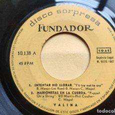 Discos de vinilo: YALINDA - EP SPANISH * PROMO FUNDADOR * INTENTAR NO LLORAR / MARIONETAS EN LA CUERDA + 2. Lote 198579985