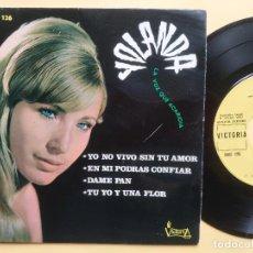 Discos de vinilo: YOLANDA - EP SPAIN PS - MINT * YO NO VIVO SIN TU AMOR / EN MI PODRAS CONFIAR + 2 * VICTORIA LABEL. Lote 198581000
