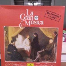 Discos de vinilo: LA GRAN MÚSICA DE CHOPIN A LISZT. DG 1980. Lote 198581896
