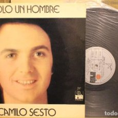 Discos de vinilo: CAMILO SESTO SOLO UN HOMBRE / 1972 ARIOLA EDICION ESPECIAL CAJA AHORRO GIRONA. Lote 198583295