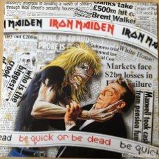 Discos de vinilo: IRON MAIDEN – BE QUICK OR BE DEAD, UK 1992 EMI. Lote 198609797