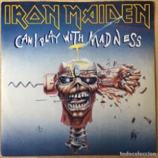 Discos de vinilo: IRON MAIDEN ?– CAN I PLAY WITH MADNESS, UK 1988 EMI. Lote 198610685
