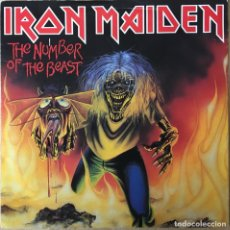 Discos de vinilo: IRON MAIDEN – THE NUMBER OF THE BEAST, ROJO UK 1982 EMI. Lote 198611237