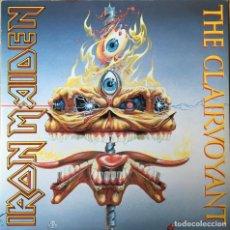 Discos de vinilo: IRON MAIDEN – THE CLAIRVOYANT, TRANSPARENTE UK 1988 EMI. Lote 198611421
