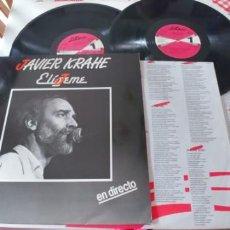Discos de vinilo: JAVIER KRAHE-LP DOBLE ELIGEME-LETRAS. Lote 198619141