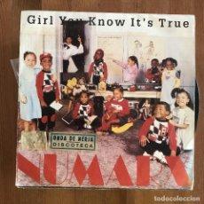 Discos de vinilo: NUMARX - GIRL YOU KNOW IT'S TRUE - SINGLE BLANCO Y NEGRO SPAIN 1988. Lote 198624687
