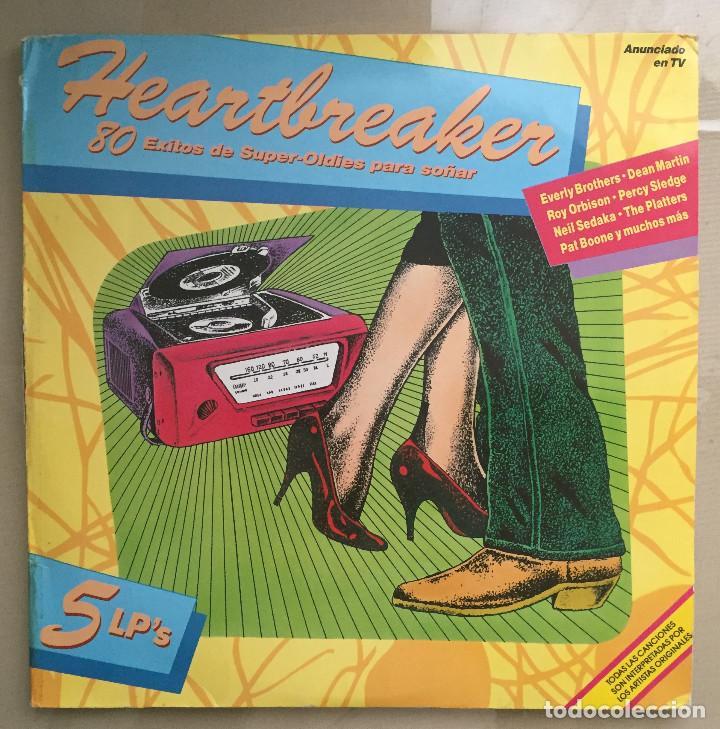 HEARTBREAKERS - 80 EXITOS DE SUPER-OLDIES PARA SOÑAR - 5 LPS - K-TEL - 1989 (Música - Discos - LP Vinilo - Otros estilos)