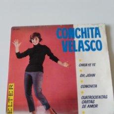 Disques de vinyle: CONCHITA VELASCO CHICA YE YE + 3 ( 1965 BELTER ESPAÑA ). Lote 198626855