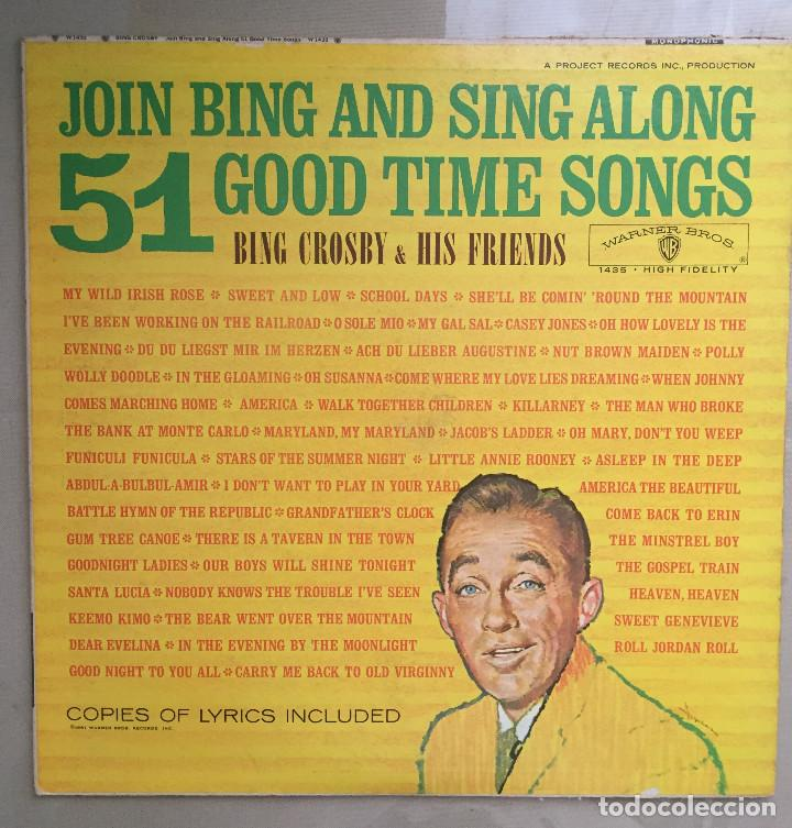 Discos de vinilo: BING CROSBY & HIS FRIENDS - JOIN BING AND SING ALONG - 51 GOOD TIME SONGS - WARNER BROS - 1962 - Foto 1 - 198627193