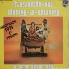 Discos de vinilo: TEACH - IN. EUROVISIÓN. SINGLE. SELLO PHILIPS. EDITADO EN ESPAÑA. AÑO 1975. Lote 198660528