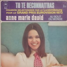 Discos de vinilo: ANNE-MARIE DAVID. EUROVISIÓN. SINGLE. SELLO EPIC. EDITADO EN FRANCIA.. Lote 198665065