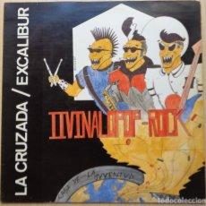 Discos de vinilo: LA CRUZADA / EXCALIBUR 'II VINALOPOP-ROCK'. Lote 198672077