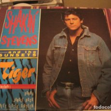 Discos de vinilo: LP SHAKIN STEVENS & THE SUNSETS TIGER EVEREST RECORDS 1000 NEO ROCKABILLY. Lote 198680861