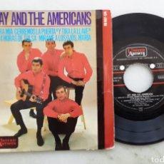 Discos de vinilo: JAY AND THE AMERICANS CARA MIA+3. Lote 198685706