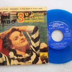 Discos de vinilo: LATIN COMBO FESTIVAL MEDITERRANEO DE LA CANCION +3. Lote 198686296