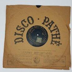 Discos de vinilo: DISCO GRAMÓFONO PATNE ( AMICO FRITZ ) BALDASARRE ( SIGLO XIX ). Lote 198689415