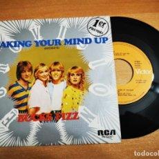 Discos de vinilo: BUCKS FIZZ MAKING YOUR MIND UP SINGLE VINILO ESPAÑA EUROVISION INGLATERRA AÑO 1981 RARO SELLO PROMO. Lote 198690760