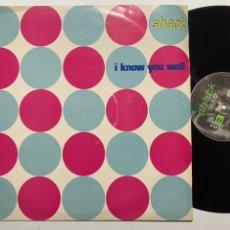 Discos de vinilo: MAXI SINGLE 12'' SHACK I KNOW YOU WELL EDICIÓN INGLESA DE 1990. Lote 198709556