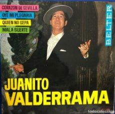 Discos de vinilo: JUANITO VALDERRAMA EP 45 RPM. Lote 198715901