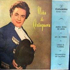 Discos de vinilo: NIÑA DE ANTEQUERA EP 45 RPM. Lote 198716707