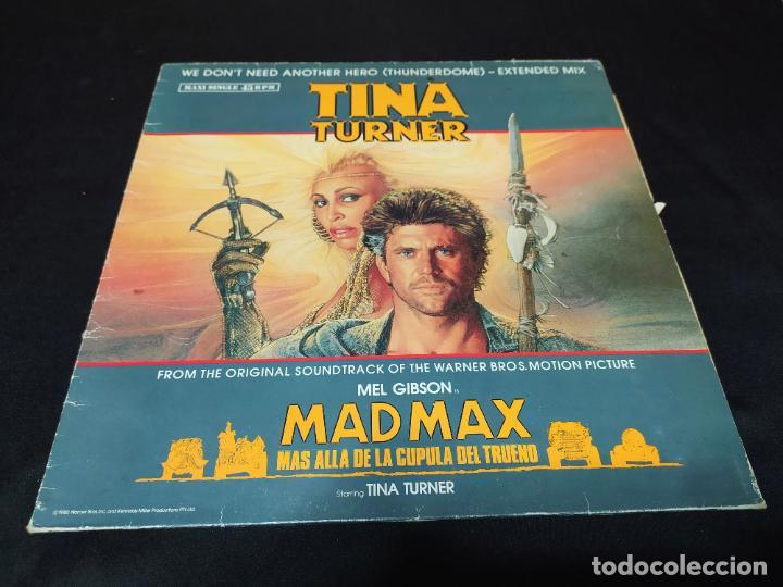 MAXI TINA TURNER MAD MAX Y LA CUPULA DEL TRUENO BUEN ESTADO (Música - Discos de Vinilo - Maxi Singles - Bandas Sonoras y Actores)
