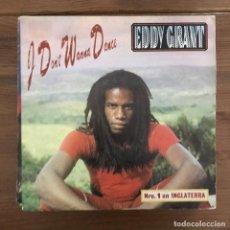 Discos de vinilo: EDDY GRANT - I DON'T WANNA DANCE - SINGLE ICE SPAIN 1982 PROMO UNA CARA. Lote 198734955
