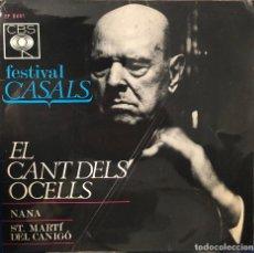 Discos de vinilo: PAU CASALS , FESIVAL CASALS - EL CANT DELS OCELLS -. Lote 198737462
