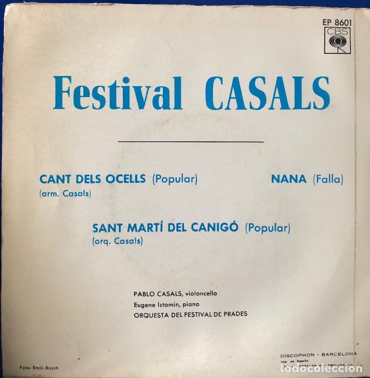 Discos de vinilo: PAU CASALS , fesival casals - el cant dels ocells - - Foto 2 - 198737462