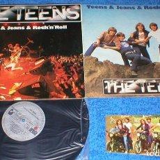 Discos de vinilo: THE TEENS SPAIN LP 1980 SELF TITLED TEENS & JEANS & ROCK´N´ROLL + POSTAL EXCELENTE ESTADO MIRA !!. Lote 198737690