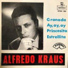 Discos de vinilo: ALFREDO KRAUS - GRANADA - EP 45 PM. Lote 198737903