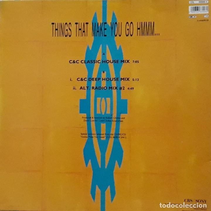 Discos de vinilo: C & C MUSIC FACTORY - THINGS THAT MAKE YOU GO HMMM... - Foto 2 - 198743332