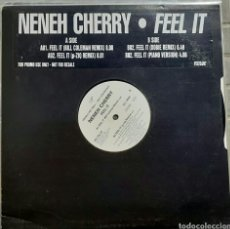 Discos de vinilo: NENEH CHERRY - FEEL IT (MAXI SINGLE, PROMO, UK - 1997). Lote 198749796