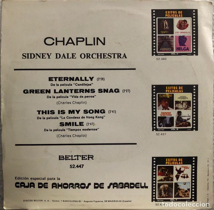 Discos de vinilo: CHAPLIN , SIDNEY DALE ORCHESTRA - Ep 45 rpm - Foto 2 - 198756646