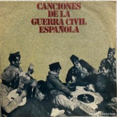 Discos de vinilo: CANCIONES DE LA GUERRA CIVIL ESPAÑOLA, EP 45 RPM. Lote 198757806