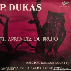 Discos de vinilo: ORQUESTA DE LA OPERA DE STUTTGART - P. DUKAS - EL APRENDIZ DE BRUJO. Lote 198758011