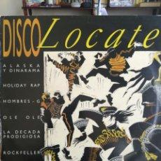 Discos de vinilo: DISCOLOCATE - ALASKA Y DINARAMA - LOQUILLO - HOMBRES G LP 1986 ESPAÑA MOVIDA MADRILEÑA. Lote 198769336
