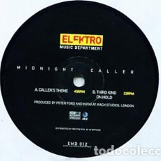 Discos de vinilo: MIDNIGHT CALLER – MIDNIGHT CALLER (ELEKTRO MUSIC DEPARTMENT ). Lote 198770106