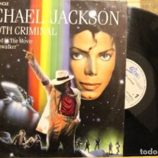 Discos de vinilo: MICHAEL JACKSON / SMOOTH CRIMINAL AS FEATURED IN THE MOVIE MOONWALKER / 1987 EPIC MAXI SINGLE. Lote 198780630