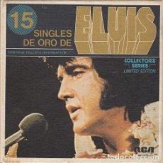 Discos de vinilo: ELVIS PRESLEY - 15 SINGLES DE ORO - CAJA CON 15 SINGLES ESPAÑOLES EDICION LIMITADA . Lote 198797465