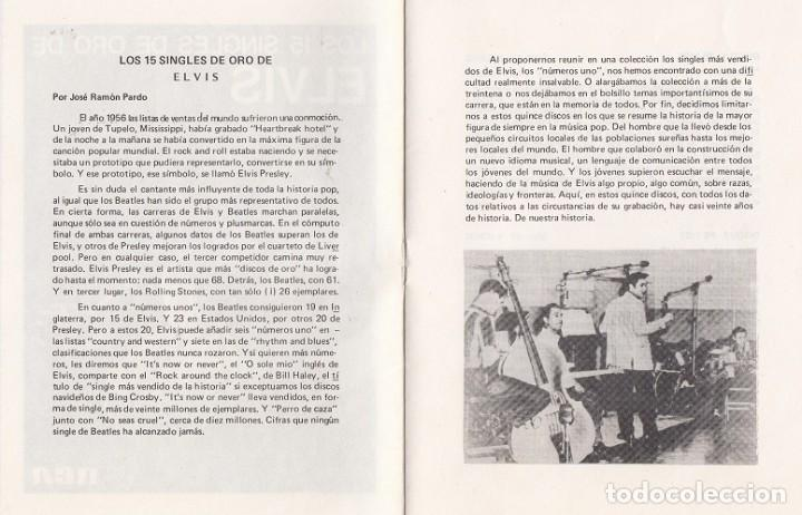 Discos de vinilo: ELVIS PRESLEY - 15 SINGLES DE ORO - CAJA CON 15 SINGLES ESPAÑOLES EDICION LIMITADA - Foto 4 - 198797465