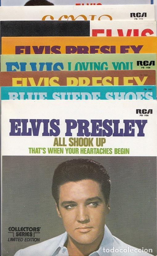 Discos de vinilo: ELVIS PRESLEY - 15 SINGLES DE ORO - CAJA CON 15 SINGLES ESPAÑOLES EDICION LIMITADA - Foto 6 - 198797465
