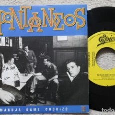 Discos de vinilo: ESPONTANEOS MARUJA DAME CHORIZO SINGLE VINYL MADE IN SAPIN 1989 SOLO UNA CARA - PROMOCIONAL. Lote 198800310