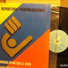 Discos de vinilo: IX JUEGOS DEPORTIVOS PANAMERICANOS / HIMNO OFICIAL VENEZUELA Y HIMNO PANAMERICANO / 1983 LP RARO. Lote 198800853