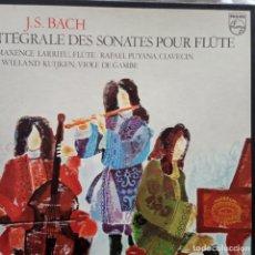 Discos de vinilo: J S BACH - INTEGRALE DES SONATES POUR FLUTE EDICIÓN FRANCESA PHILIPS 2 LPS CON ESTUCHE.. Lote 198808725