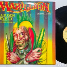 Discos de vinilo: MAXI SINGLE 12'' MARILLION ‎– GARDEN PARTY (THE GREAT CUCUMBER MASSACRE) EDICION ESPAÑOLA DE 1985. Lote 198818962