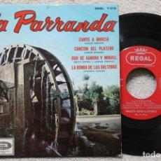 Discos de vinilo: LA PARRANDA ORQUESTA SINFÓNICA ESPAÑOLACANTO A MURCIA EP VINYL MADE IN SPAIN . Lote 198821811