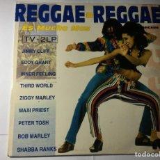 Discos de vinilo: DISCO VINILO LP REGGAE REGGAE ES MUCHO MAS - DOBLE LP. Lote 198823583
