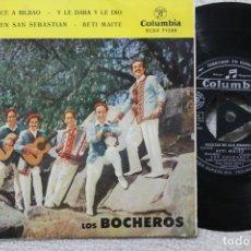 Discos de vinilo: LOS BROCHEROS DE SANTURCE A BILBAO EP VINYL MADE IN SPAIN 1961. Lote 198823970