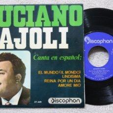 Discos de vinilo: LUCIANO TAJOLI EL MUNDO EP VINYL MADE IN SPAIN 1965. Lote 198824936